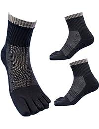 (SP943) 靴下 メンズ 5本指 底パイル&高級コーマ綿糸でソフトな履き心地 蒸れずに快適綿ソックス 軍足 安全靴や作業用に グレー 3足組 24.5~27cm