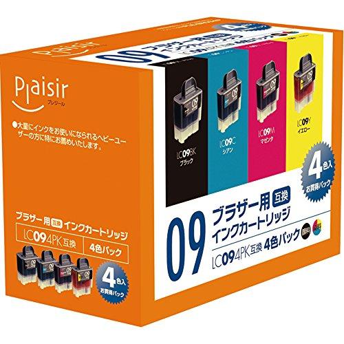 プレジール 互換インクカートリッジ BROTHER 4色セット(ブラック・シアン・マゼンタ・イエロー) LC094PK PLE-BR094P