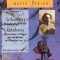 Schubert;Sonata Op.21 + Brahms
