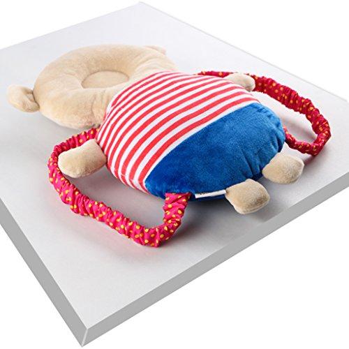 KAKIBLINベビーヘッドガード ごっつん防止 保護 転倒防止 保護クッション リュック型 安全グッズ 安全対策 幼児 ヘルメット 頭へるめっと 天使の羽 赤ちゃん 頭保護ガード ヘルメット セーフティー 安全 室内 乳幼児用 保護枕 可愛い熊