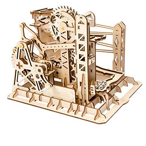 Robotime リフトコースター 3D立体パズル ギア 手回し レーザー 木製 クラフト キット プレゼント (リフト)