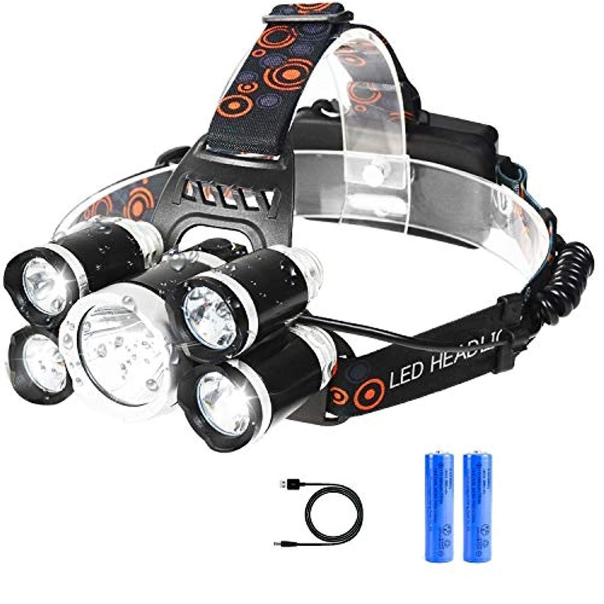 ダムポケット放射性RENYANG LED ヘッドライト充電式 アウトドア ヘッドランプ 防水 SOS機能 4種モード 徒歩 登山 釣り 防災 停電時用 高輝度 作業灯