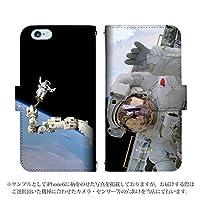 AQUOS PHONE Xx mini 303SH 手帳型 ケース [デザイン:Design9] 宇宙 宇宙飛行士 スペースシャトル アクオス スマホ カバー