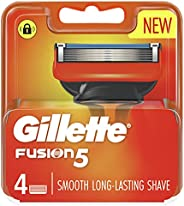 Gillette Fusion Manual Razor Blades, 4 Count