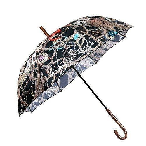 【Vivienne Westwood】ヴィヴィアンウエストウッド SAVE OUR OCEAN 婦人長傘(雨傘) 黒