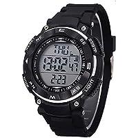 Lookatool New Waterproof Digital LED Quartz Alarm Date Sports Wrist Watch Black