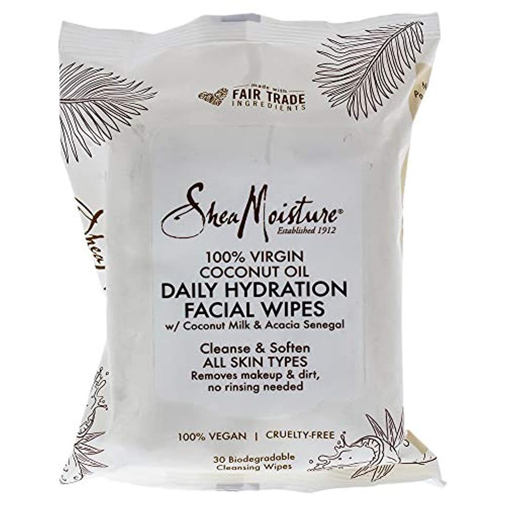 コーンウォール展開する降下100 Percent Virgin Coconut Oil Daily Hydration Facial Wipes