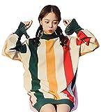 (ニカ)レディース パーカー スウェット 春 秋 韓国風 パーカー 薄手 原宿系 BF風 シンプル ワンピース ラシャ ロングパーカーグリーン
