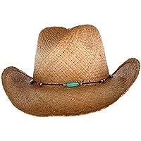 Kenny K Women s Raffia Western Hat Beaded Hatband f535cd77e6f5