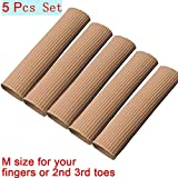 4Pcs Cuttable Silicone Gel Toe Tubes Sleeve Protectors Relief Pressure Pain for Middle toes 10CM