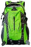 yemsy style 山登り 初心者 用 登山 リュック ザック 軽量 山 バック パック 大容量 撥水 加工 (01:グリーン)
