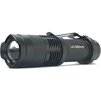 Rebias 紫外線 ブラックライト LED 365nm UV 懐中電灯 ライト 真贋 判定 目には見えない汚れ 発見器 NS-UVHAND-365