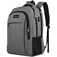 Travel Laptop Backpack,Business Anti Theft Slim Durable Laptops Backpack USB Charging Port,Water Resistant College School Computer Bag Women & Men Fits 15.6 Inch Laptop Notebook - Grey