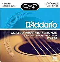 D'Addario ダダリオ アコースティックギター弦 EXPコーティング フォスファーブロンズ Light 12弦 .010-.047 EXP38 【国内正規品】