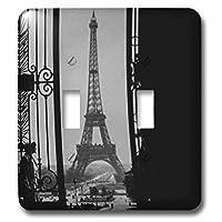 3drose 2LSP _ 240529_ 2エッフェル塔Champs de Marsからtrocadoer Palaceパリフランスvintage-double切り替えスイッチ