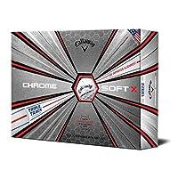 キャロウェイ 2019 CHROME SOFT X TRIPLE TRACK ソフトウレタンカバー 4ピース ゴルフボール USA直輸入品 ホワイト