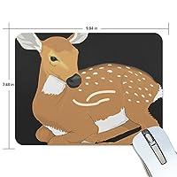 Jiemeil マウスパッド シカ 絵 ラバー 高級感 おしゃれ 滑り止め PC  かっこいい かわいい プレゼント ラップトップ MacBook pro/DELL/HP/SAMSUNG などに プレゼント