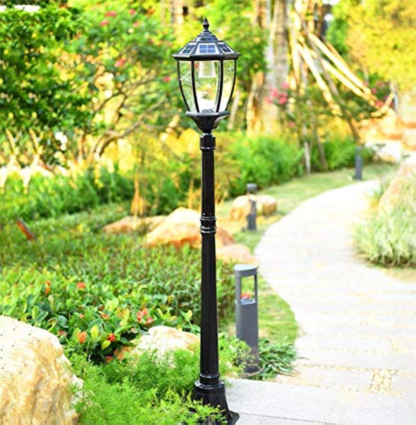 補助金優雅な動く80センチメートル/ 110センチメートル/ 140センチメートル/ 170センチメートル/ 200センチメートルヨーロピアンスタイルのLEDレトロ街路灯ガーデン防水芝生照明景観ライトソーラーガーデンライト
