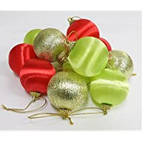 クリスマスオーナメント ストロング 45mm×12個入り 赤、緑、ゴールド Xmas オーナメントボール クリスマスツリー リース 装飾 飾り デコレーション
