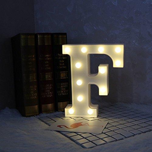 LED イルミネーション イニシャルライト アルファベットライト ホームイベント インテリア ギフト (F)