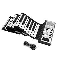 ロールピアノ、61鍵シリコンポータブルフォールディングロールピアノ