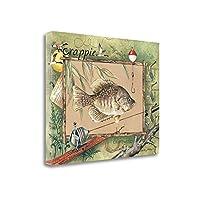 """ Crappie "" by Anita Phillips、アートジークレーギャラリーラップキャンバスの印刷、ハングする準備"