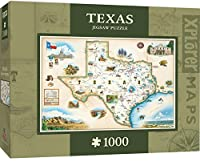 (Texas Map) - MasterPieces Texas Map Jigsaw Puzzle, 1000-Piece
