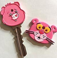 ケアベア・ピンクパンサー キーケース キーカバー 鍵  2種類セット キーキャップ