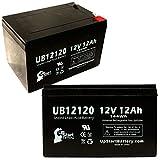 2xパック - Altronix AL400ULADA 互換バッテリー : Altronix UB12120 シールド鉛蓄電池 バッテリー対応 (12Ah, 12V, SLA, AGM)