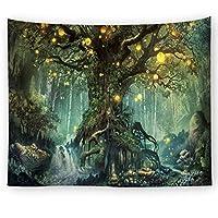 森シリーズホームデコレーションタペストリー壁掛け壁装飾ビーチタオル毛布 (Style : 1)