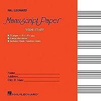 Wide Staff Manuscript Paper: Red Cover