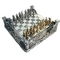 Pewter & Glass Coliseum Chess Set