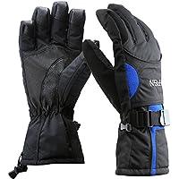 スキー手袋 通気性と防水性に優れた暖かい手袋 スキー/スノーボード用 寒い冬に シンサレートグローブ メンズ