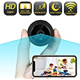 Wi-Fi Mini Spy Camera [2020 Version] Wireless Hidden Camera with Audio and Video, Nanny Camera with 1080P FULL HD, Motion Detection, Real-Time Monitoring Anytime and Anywhere, Night Vision, 150° Wide Angle