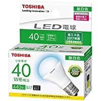 TOSHIBA 東芝ライテック LED電球形ランプ E17 光が広がるタイプ 昼白色:LDA4N-G-E17/S40WST LDA4NGE17S40W