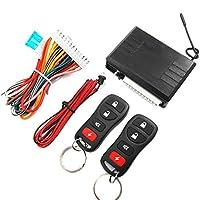 車用 高品質Noキーを入力するには自動電子アクセサリー盗難防止装置中央ロックM616-8113ダートホークアラーム(黒)