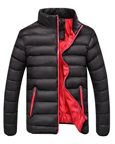 (コズーン) KO ZOON B54 中棉 ジャケット メンズ ダウンジャケット 風 メンズファッション (黒3XL)