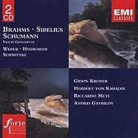 Brahms: Violin Concerto In D / Sibelius: Violin Concerto In D / Schumann: Violin Concerto In D / Weber: Grand Duo Concertante (2004-08-27)