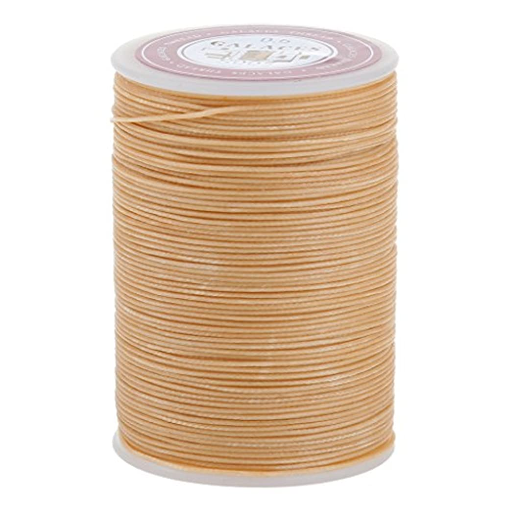 寄生虫巡礼者比類なきDovewill レザークラフト 手芸 縫製 ミシン糸 縫い糸 ワックひも 織りスレッド 実用 全2サイズ3色 - ベージュ, 0.6mm