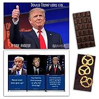 "DA CHOCOLATE キャンディお土産TRUMPチョコレートセット1箱7.2x5.2 ""3オンス各チョコレート4x2"" (DARK Apricot Pretzel Coconut)"