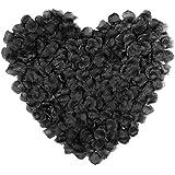NALER 花びら バラ造花 ブラック 黒 約2000枚 ハロウィン 店舗 飾り