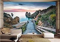 Minyose カスタム壁紙ホーム装飾壁画海岸ビュー3D背景リビングルームベッドルームテレビの背景壁画3D壁紙-300cmx210cm
