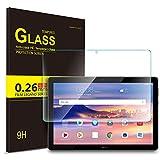 「IVSO Huawei MediaPad T5 10 タブレット ガラスフィルム 10インチ 新型 タブレット 強化ガラスフィルム 耐指紋 撥油性 表面硬度9H ラウンド加工処理 飛散防止処理 高透過...」のサムネイル画像