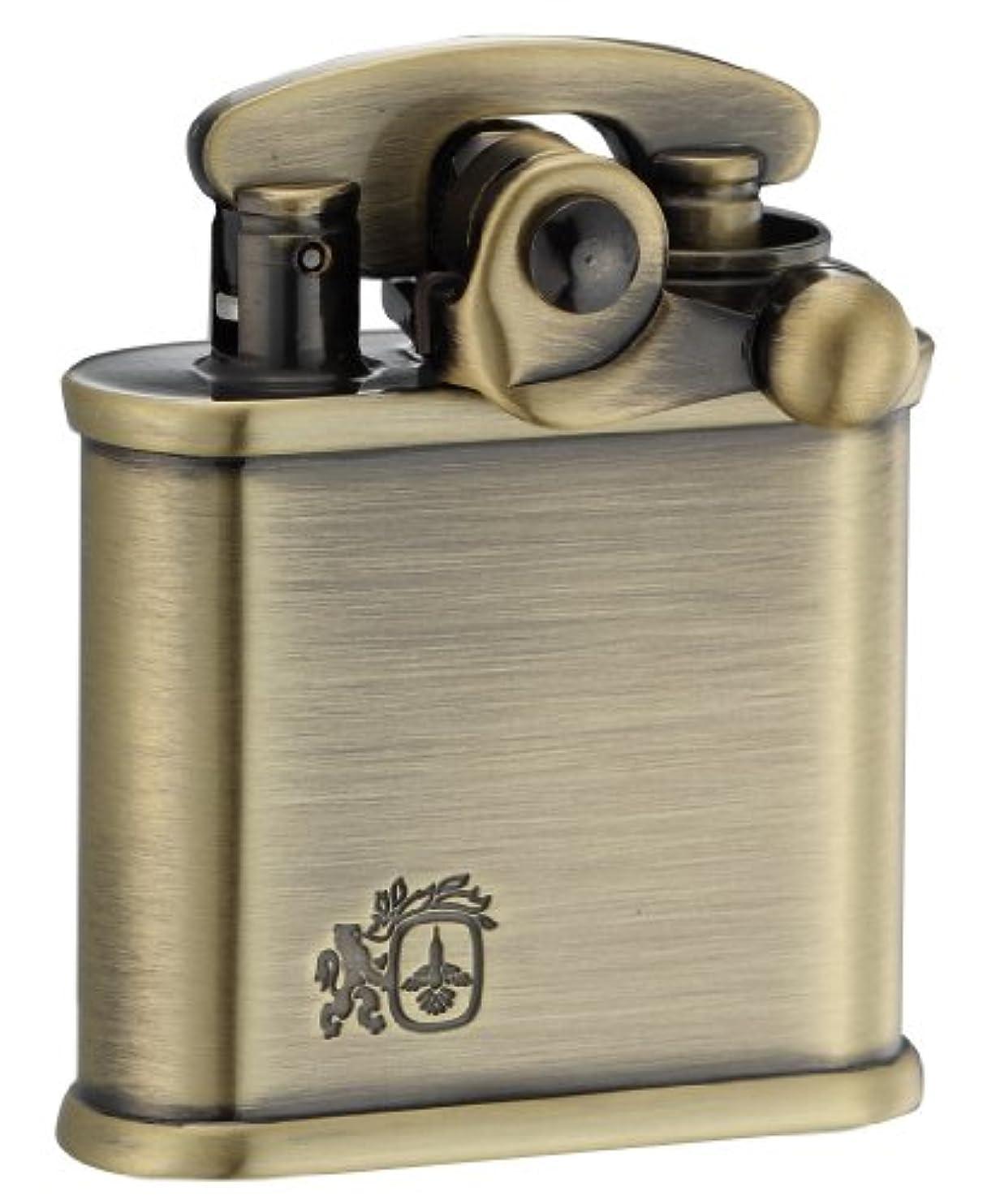 経済的評決落ち着いたCOLIBRI(コリブリ) オイルライター フリント式 日本製 ブラス 古美 ライオン 308-0010