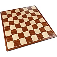 Pallas Rounded Corners Chess Board with Inlaid Mahogany Wood - Board Only - 17 Inch