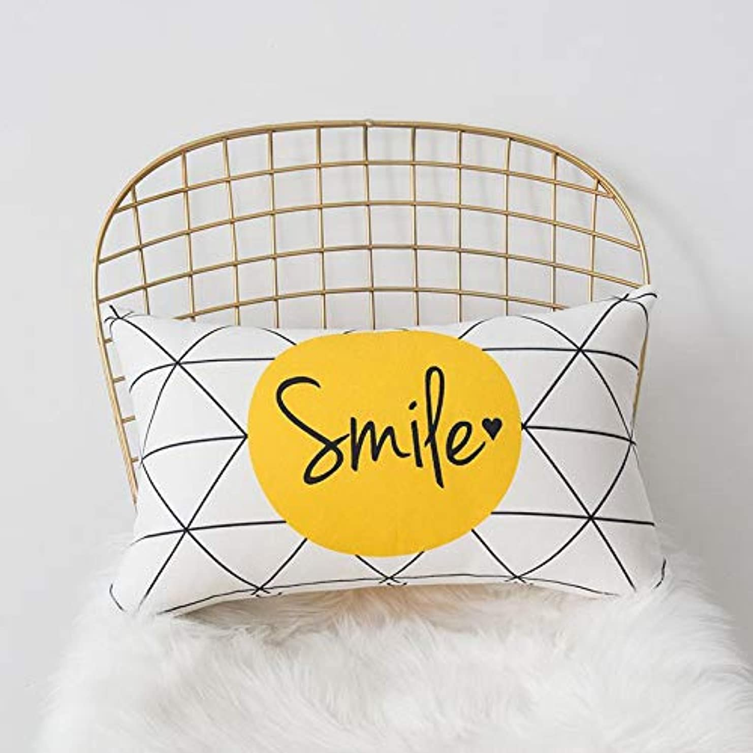 おいしい留まるハロウィンSMART 黄色グレー枕北欧スタイル黄色ヘラジカ幾何枕リビングルームのインテリアソファクッション Cojines 装飾良質 クッション 椅子
