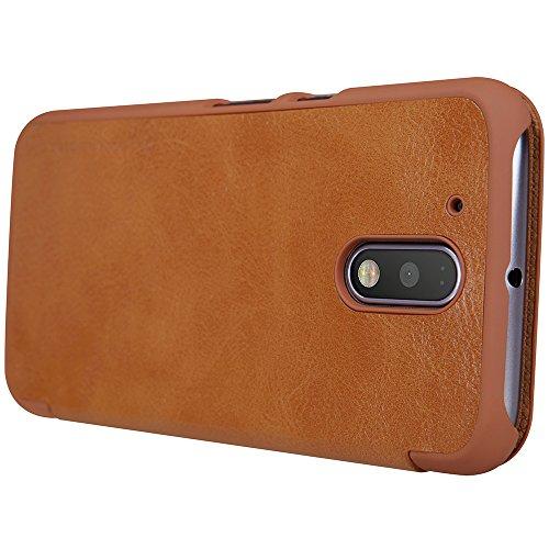 『NILLKIN Motorola Moto G4 Plus 2016 スマートフォンケース 褐色』の1枚目の画像