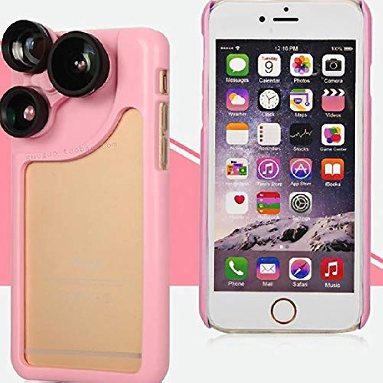 現実には多数ののスコアJicorzo - 4 iphone 6S 6プラスPC +シリコーン写真シェル保護Retaill包装ボックスの1のカメラレンズカバーケースで