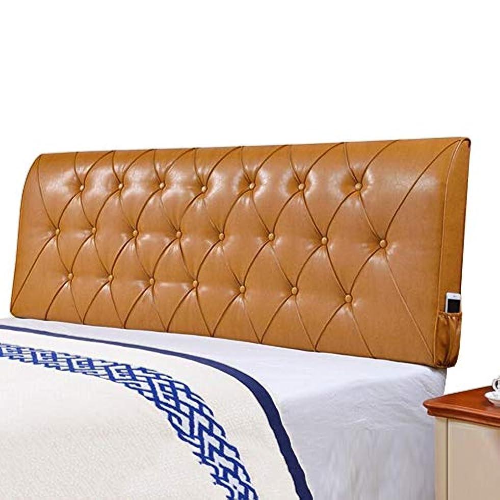 指導する学士出くわすLIANGLIANG クションベッドの背もたれ大型ベッドヘッドレストスポンジPU、5色、12サイズ (色 : ベージュ, サイズ さいず : 130x60x10cm)