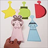 七夕 5種類5色(こより一体型)50枚入り / 装飾 飾り  6065